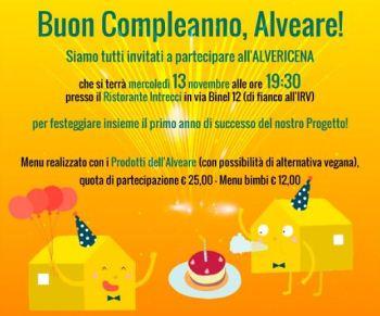 L'Alveare festeggia il suo primo compleanno con una Alvericena ad Aosta