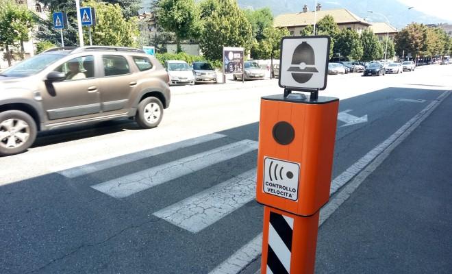 autovelox in corso Battaglione Aosta