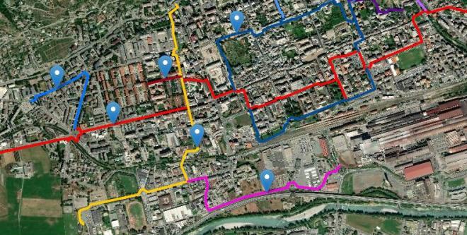 Aosta in bicicletta