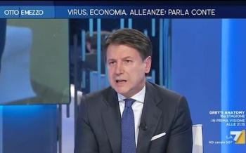 Giuseppe Conte su La7