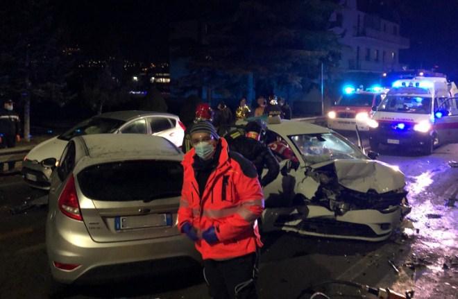 Incidente stradale a Gressan