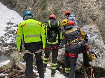 Intervento dei soccorritori