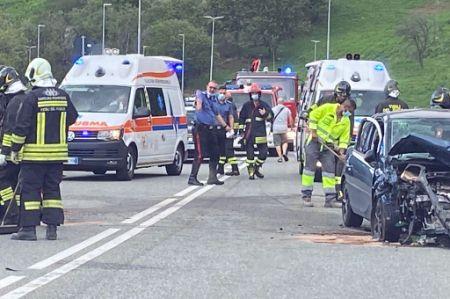 Incidente stradale a Châtillon