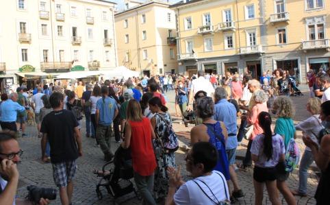 Manifestazione ad Aosta