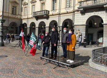 Manifestazione in piazza Chanoux