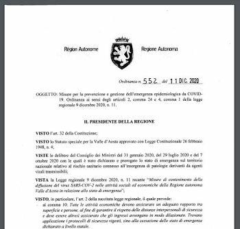 Ordinanza n. 552/2020