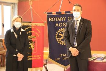 La rettrice Poletti e il presidente Rotary Avezzano