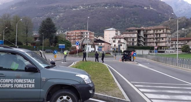 Posto di blocco a Pont-Saint-Martin
