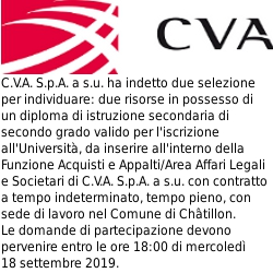 Annuncio di lavoro CVA