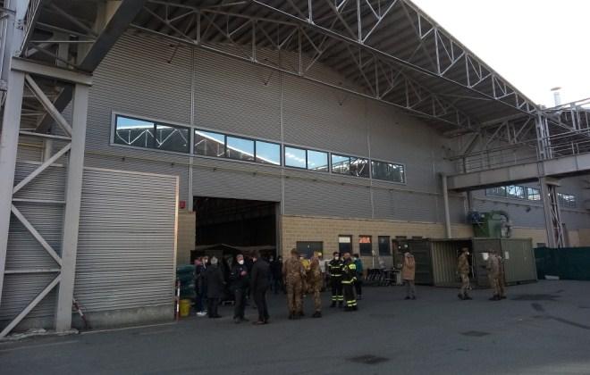 ospedale Covid dell'Esercito ad Aosta