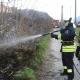 Pont-Saint-Martin, incendio lungo la scarpata della ferrovia