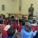 Arianna Fontana in classe con gli studenti di Courmayeur